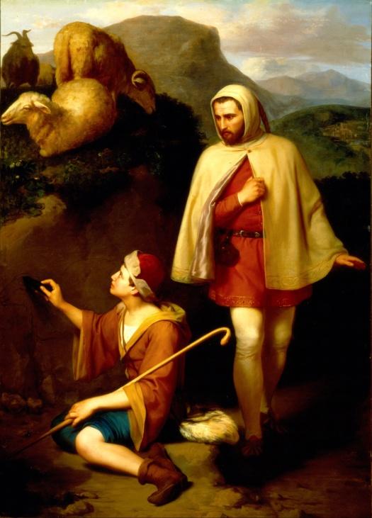 José_María_Obregón_-_Giotto_and_Cimabue_-_Google_Art_Project